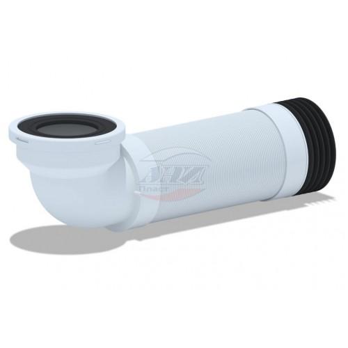 Слив д/унитаза гофр. АНИ для чугун. труб, ф110*90° удлиненн. 350-950мм (К739R) /уп.12шт....