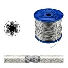 Трос стальной 3мм в ПВХ оплетке 4мм DIN 3055