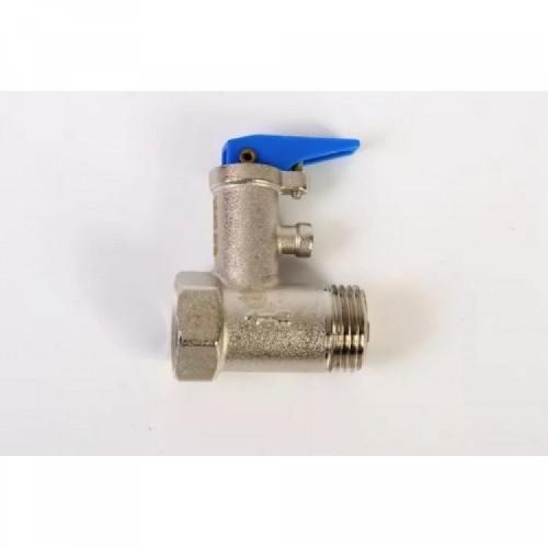 """Клапан подрывной предохранительный для бойлера 1/2""""х6 бар  флажок, никелированный ViEiR..."""