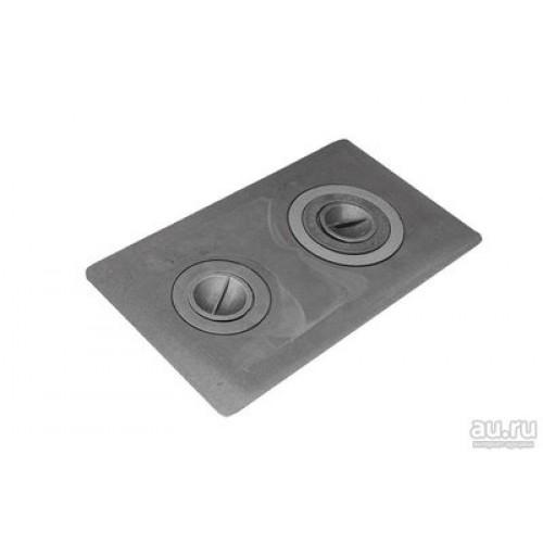Плита цельная 2-х конфорочная 710*410*25мм с частыми ребрами (иркутск)...