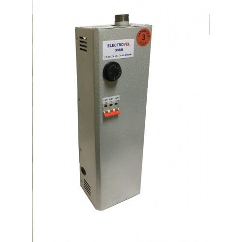 Электрокотел  4,5кВт (220) Ниж.подкл. МПУ кнопки ElectroVel  4,5М...