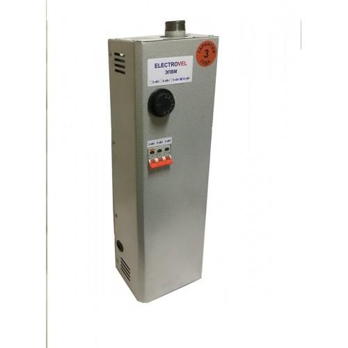 Электрокотел  9кВт (380) Ниж. подкл.МПУ авт.выкл. ElectroVel НЕРЖ  9,0М...