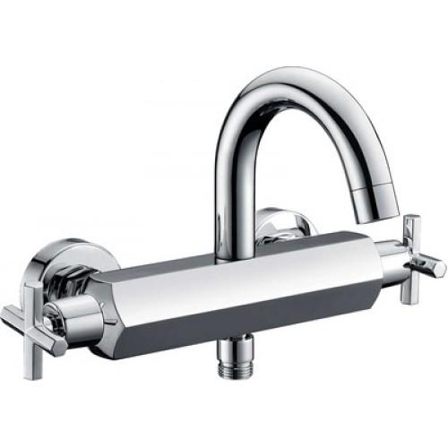 Смеситель для ванны BERHOLM OSSE керам. кран-буксы хром короткий излив OSESB00B02...
