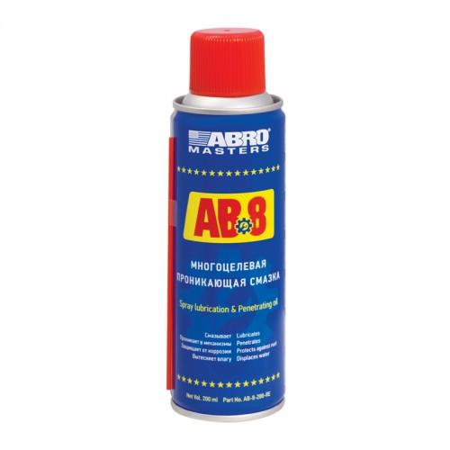 Смазка-спрей многоцелевая проникающая 200мл ABRO MASTERS AB-8...