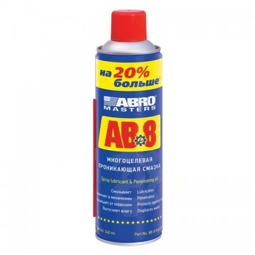 Смазка-спрей многоцелевая проникающая 540мл ABRO MASTERS AB-8...