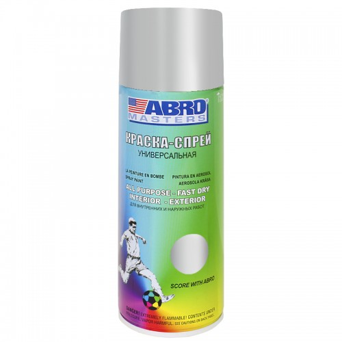 Краска-спрей алюминиевая ABRO Masters SP-0026-AM...