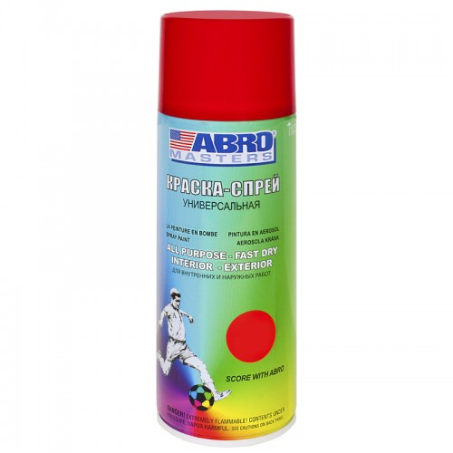 Краска-спрей красная ABRO Masters SP-075-AM...