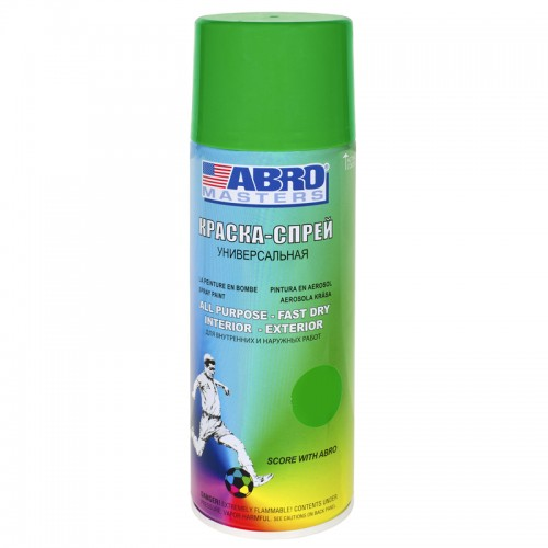 Краска-спрей светло-зеленая ABRO Masters SP-045-AM...